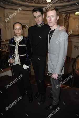 Stock Image of Grace Wales Bonner, Thomas Tait and Jordan Askill