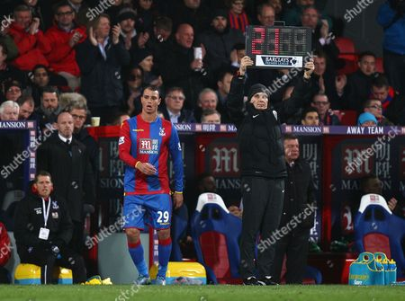 Marouane Chamakh of Crystal Palace   during the Barclays Premier League match between Crystal Palace and Sunderland  played at Selhurst Park , London on 23 November 2015
