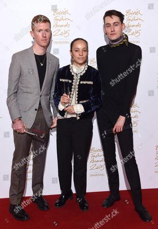 Jordan Askill, Grace Wales Bonner and Thomas Tait