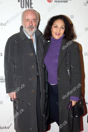 Stock Picture of Bertrand Blier and wife Farida Rahouadj