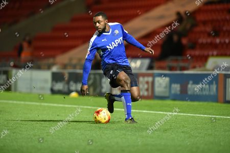 Sylvan Ebanks-Blake of Chesterfield FC during the Sky Bet League 1 match between Doncaster Rovers and Chesterfield at the Keepmoat Stadium, Doncaster