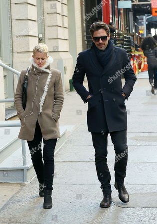Editorial image of Henrik Lundqvist and Therese Andersson out and about, New York, America - 24 Nov 2015