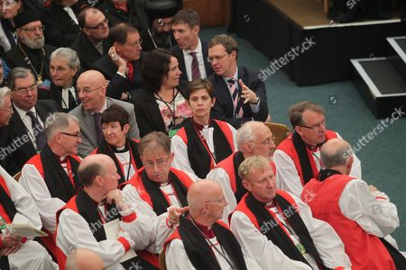 The Rt Reverend Libby Lane, Bishop of Stockport - first female Bishop takes her seat at Church House.