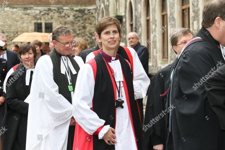 The Rt Reverend Libby Lane, Bishop of Stockport - first female Bishop arrives at Church House