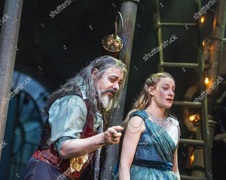 Stock Picture of Darrell D'Silva as Hook, Mariah Gale as Wendy