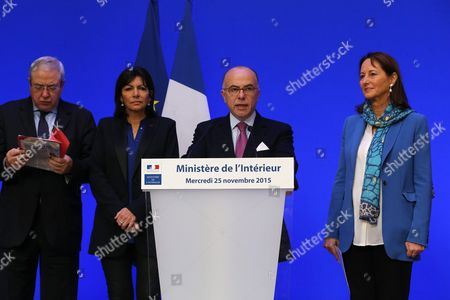 Jean-Paul Huchon, Anne Hidalgo, Bernard Cazeneuve and Segolene Royal