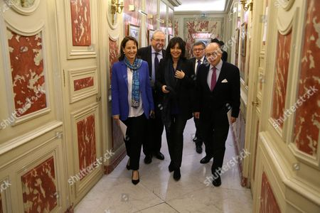 Jean-Paul Huchon, Anne Hidalgo, Stephane Troussel, Segolene Royal and Bernard Cazeneuve