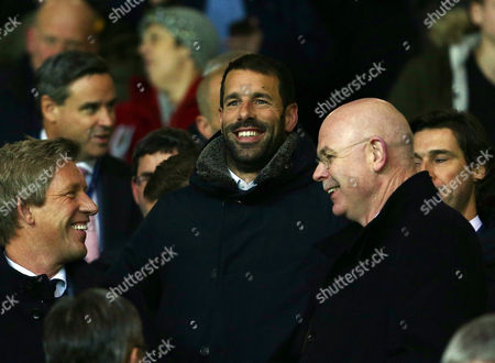 Ruud van Nistelrooy looks on from the stand during the UEFA Champions League Group B match between Manchester United and PSV Eindhoven played at Old Trafford, Manchester on November 25th 2015