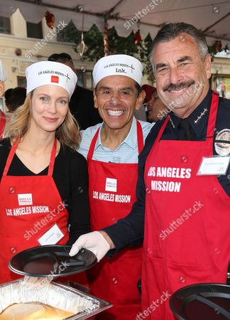 Editorial image of Thanksgiving for the Homeless, Los Angeles, America - 25 Nov 2015
