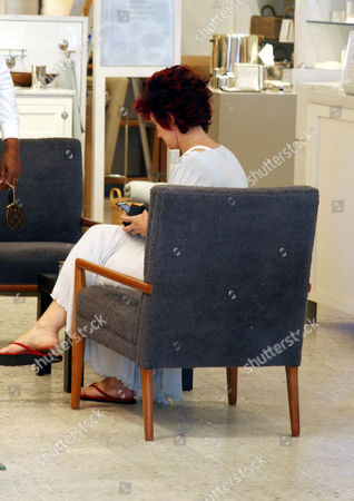 Stock Image of Sharon Osbourne shopping for household items at Waterworks on Robertson in Beverly Hills
