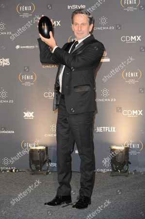 Alfredo Castro received the best male Performance at Fenix Iberoamerican Film Awards Photocall at Teatro de la Ciudad
