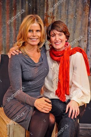 Stock Picture of Mariel Hemingway, American actress and author with director Alex Helfrecht