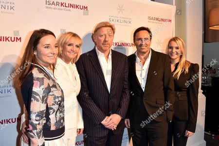 Boris Becker, Christa Kinshofer, Stephanie Rembeck, Dr. Erich Rembeck