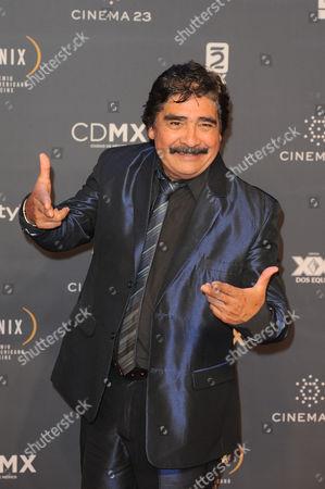 Celso Pina arrives at The Fenix Iberoamerican Film Awards at Teatro de la Ciudad