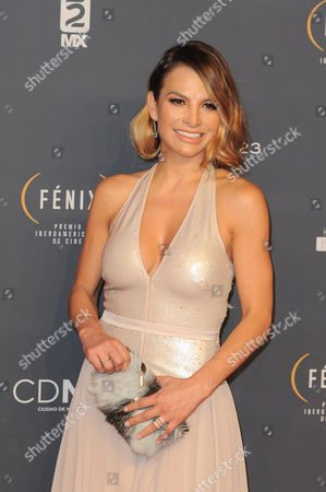 Fabiola Campomanes arrives at The Fenix Iberoamerican Film Awards at Teatro de la Ciudad