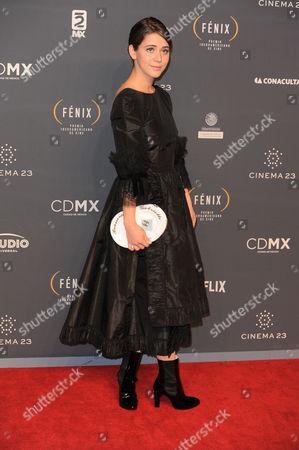 Tessa Ia arrives at The Fenix Iberoamerican Film Awards at Teatro de la Ciudad