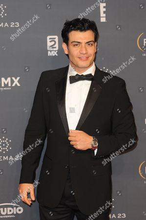 Stock Photo of Andres Palacios arrives at The Fenix Iberoamerican Film Awards at Teatro de la Ciudad