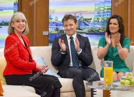 Sue Jameson (last day) with Ben Shephard and Susanna Reid
