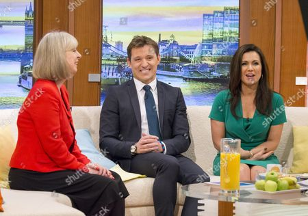 Stock Image of Sue Jameson (last day) with Ben Shephard and Susanna Reid
