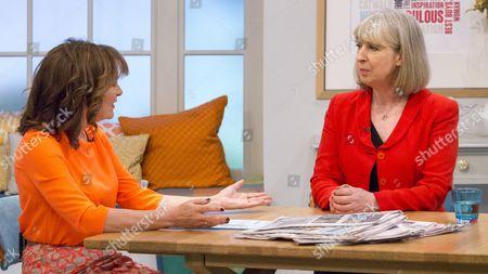 Lorraine Kelly and Sue Jameson