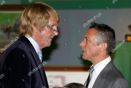 Frankie Dettori and Andy Stewart Sir Peter O'Sullevan Award
