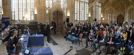 Nicola Blackwood chairs a session of her committee in The Divinity School at Oxford University