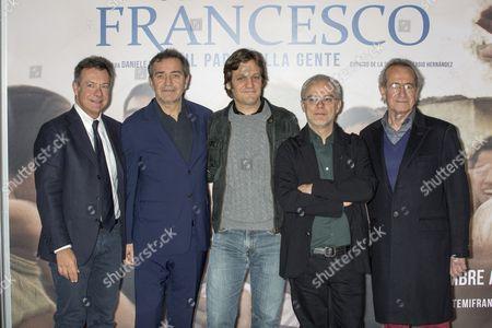 Mediaset Entertainment Director Alessandro Salem, producer Pietro Valsecchi, Rodrigo de la Serna, Daniele Luchetti and Sergio Hernandez
