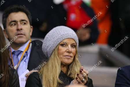 Stock Picture of Ulla Sandrock, wife of Jurgen Klopp pictured in the stands during the Europa League Match between Liverpool FC v FC Girondins de Bordeaux played at Anfield, Liverpool on 26th November 2015