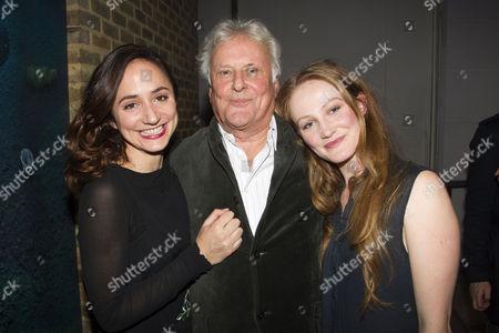 Lydia Leonard (Rita Allmers), Richard Eyre (Director) and Eve Ponsonby (Asta Allmers)