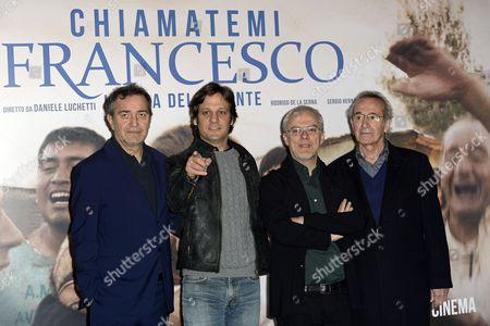 Pietro Valsecchi, Daniele Luchetti and cast Rodrigo de la Serna, Sergio Hernandez
