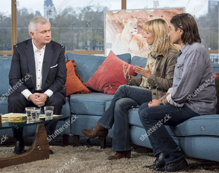 Stock Image of Eamonn Holmes with Michaela Strachan and Ian Michler