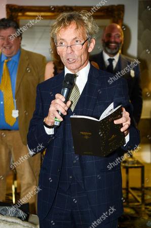 Stock Photo of John Francombe makes a speech