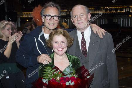 Jonathan Kent (Director), Imelda Staunton (Momma Rose) and Peter Davison (Herbie) backstage