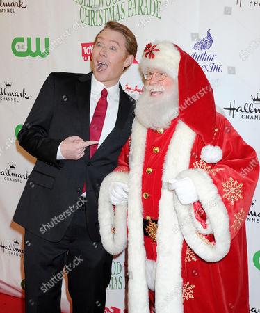 Clay Aiken and Santa Claus