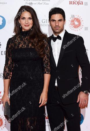 Mikel Arteta and Lorena Bernal