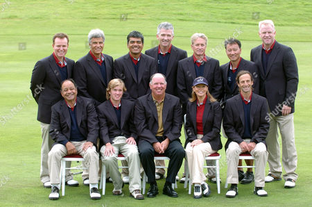 Stock Photo of Steve Hytner, Mark Spitz, George Lopez, Patrick Duffy, Michael Douglas, Michael Chang, Boomer Esiason, Cheech Marin, Haley Joel Osment, team captain Mark O'Meara, Cheryl Ladd and Kenny G