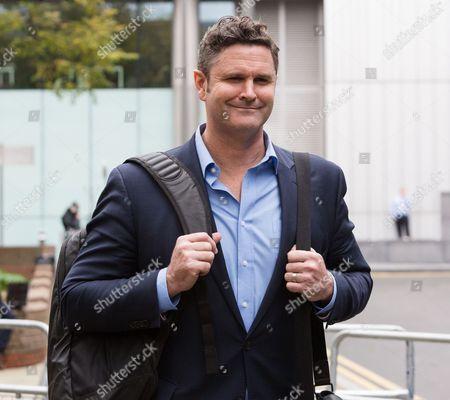 Chris Cairns leaving Southwark Crown Court