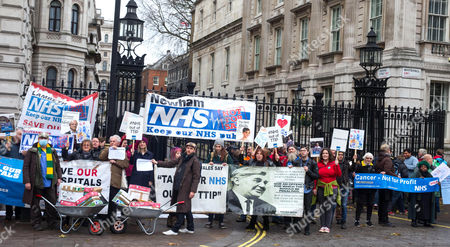 Stock Picture of Sufragette star Anne-Marie Duff joins health workers protesting to help save the NHS