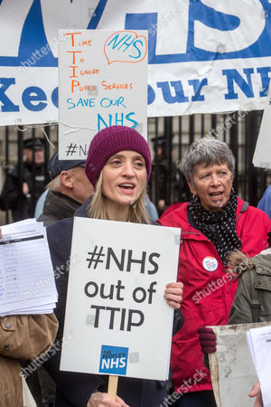 Editorial picture of Ann-Marie Duff joins NHS demonstration, Downing Street, London, Britain -30 Nov 2015