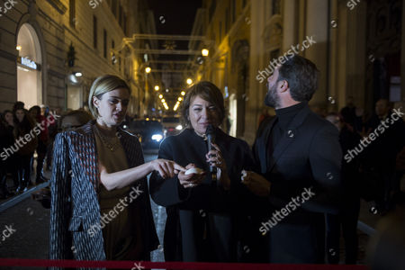 Luca Calvani (R), Tiziana Cuscuna (C) and Nathalie Rapti Gomez (L)