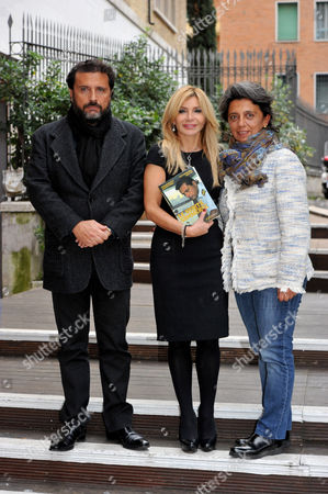 "Stock Image of Francesco Schettino, his sister Giulia Schettino and the co-author Vittoriana Abate attend the presentation in Rome of his book ""Le verita' sommerse"" (the submerged truth)"