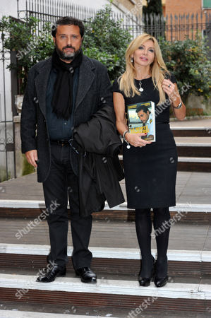 "Francesco Schettino and Vittoriana Abate co-author attend the presentation in Rome of his book ""Le verita' sommerse"" (the submerged truth)"