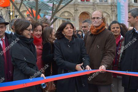 Anne Hidalgo, Mayor of Paris with Deputy Mayors, Celia Blauel and Jean-Louis Missika, Deputy Mayor