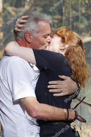 Stock Picture of Yvette Fielding is voted out and is greeted by husband Karl Beattie