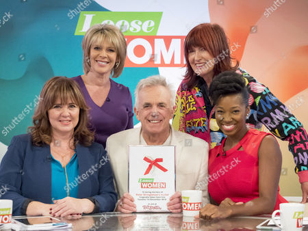 Ruth Langsford, Coleen Nolan, Jamelia and Janet Street-Porter with Peter Stringfellow