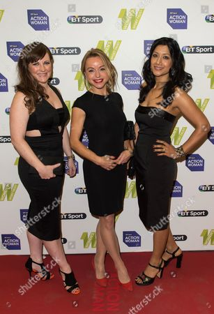 L-R Natalie Quirk, Abi Griffiths and Reshmin Chowdhury
