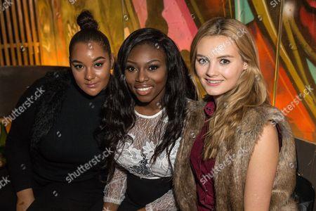 Stock Photo of Gracie Francesca, Patricia Bright and Becky Sheeran