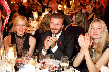 David Beckham, Heidi Bishop and guest