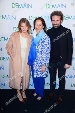 Melanie Laurent, Segolene Royal and Cyril Dion