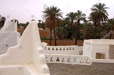 View across the oasis of Ghadames, UNESCO world heritage, Libya